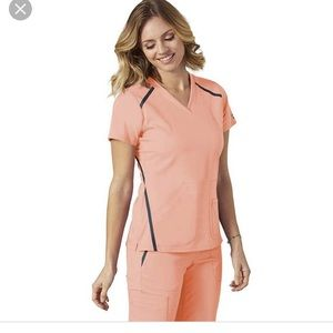Greys Anatomy peach scrubs